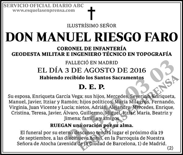 Manuel Riesgo Faro